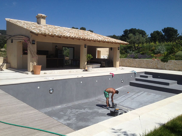 Choisir le fond de sa piscine for Construction pool house piscine