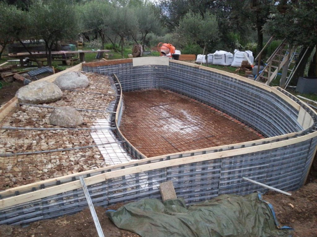 Photos techniques for Forme piscine beton