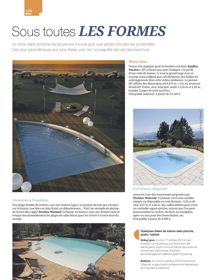 C t piscine article marinal for Article piscine