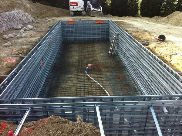 Marinal31 piscine chantier ferraillage piscines marinal for Taxe construction piscine 2016