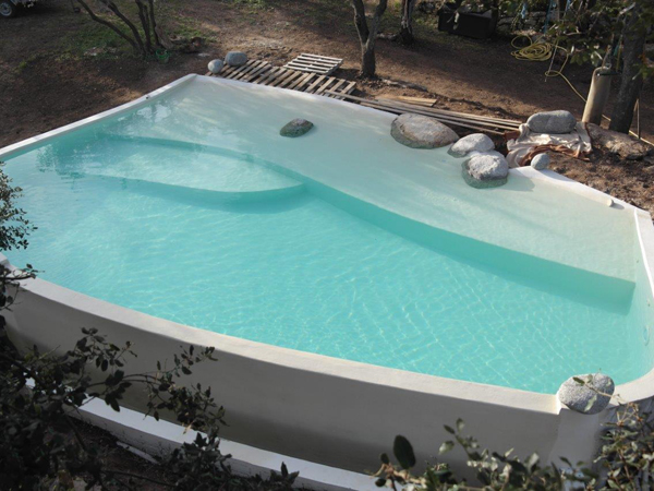 piscine traditionnelle b ton cir mise en eau marinal. Black Bedroom Furniture Sets. Home Design Ideas