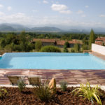Marinal construction of traditional swimming pool