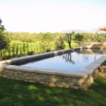 Piscine semi enterree beton marinal